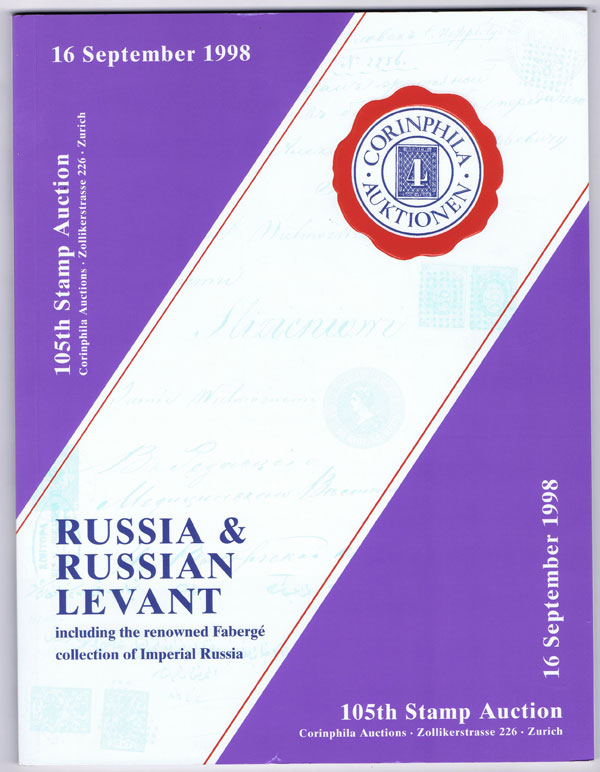 1998 (16 Sep) Russia & Russian Levant including the renowned Faberge collection of Imperial Russia.