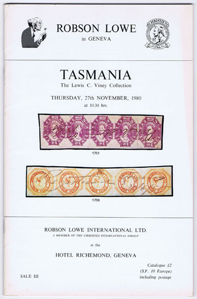 1980 (27 Nov) Tasmania. The Lewis C. Viney collection.