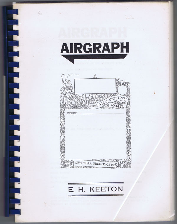 KEETON E.H. Airgraph: a Detailed Handbook on the Airgraph With Indications of the Value.
