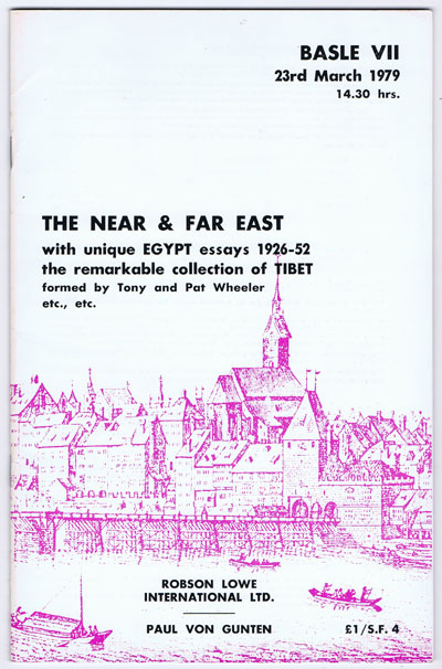 1979 (23 Mar) The Near & Far East - with unique Egypt essays 1926-52, the remarkable collection of Tibet formed by Tony & Pat Wheeler.