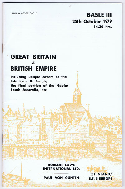 1979 (25 Oct) Great Britain & British Empire - including final portion of Napier South Australia