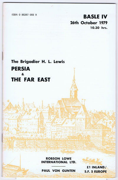 1979 (26 Oct) Brigadier H.L. Lewis Persia & the Far East. - including final portion of Napier South Australia