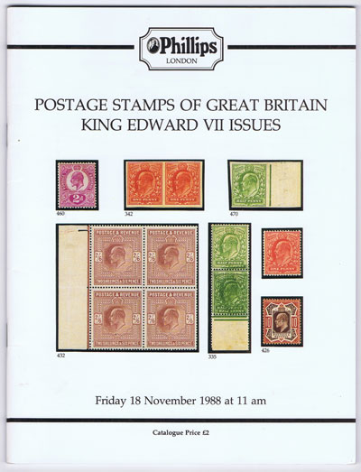 1988 (18 Nov) Postage stamps of Great Britain King Edward VII issues.