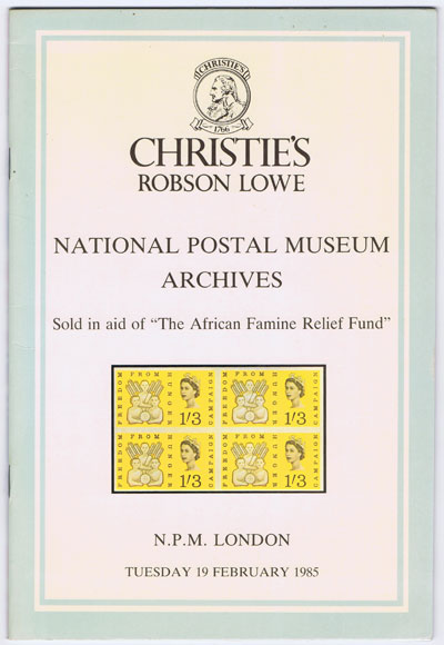 1985 (19 Feb) National Postal Museum Archives.
