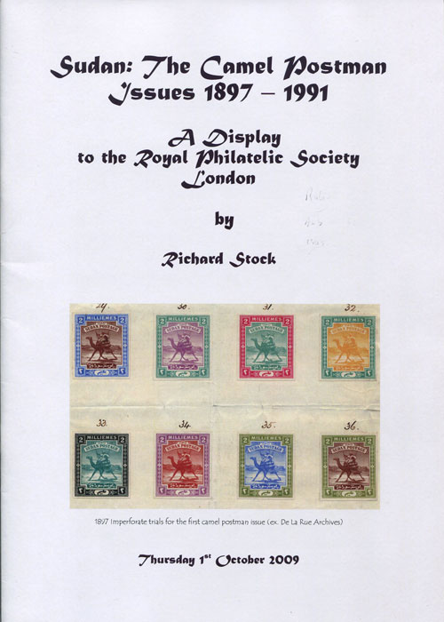 STOCK Richard Sudan: The Camel Postman Issues 1897-1991.