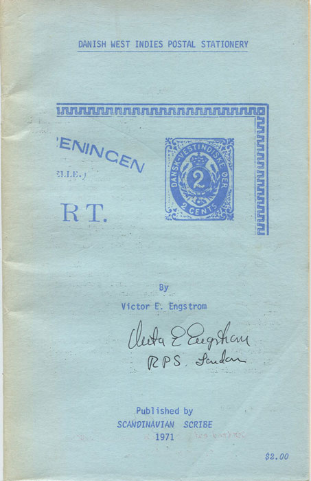ENGSTROM Victor E. Danish West Indies Postal Stationery.