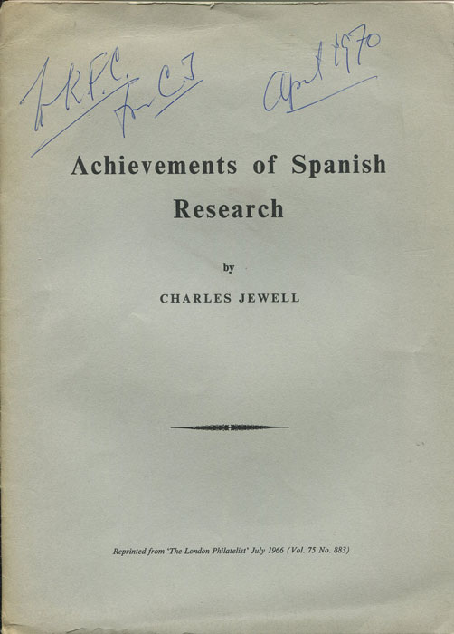 JEWELL Charles Achievements of Spanish Research.