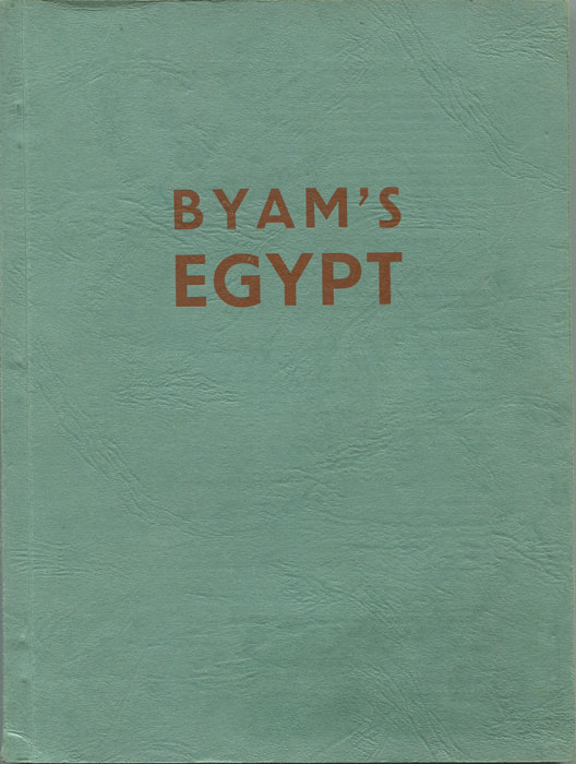 1961 (24-25 Oct) Dr William Byam collection of Egypt.