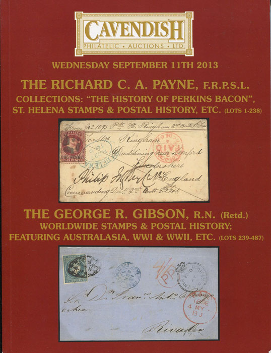 2013 (11 Sep) Richard C.A. Payne collections, The History of Perkins Bacon and St Helena stamps & postal history.