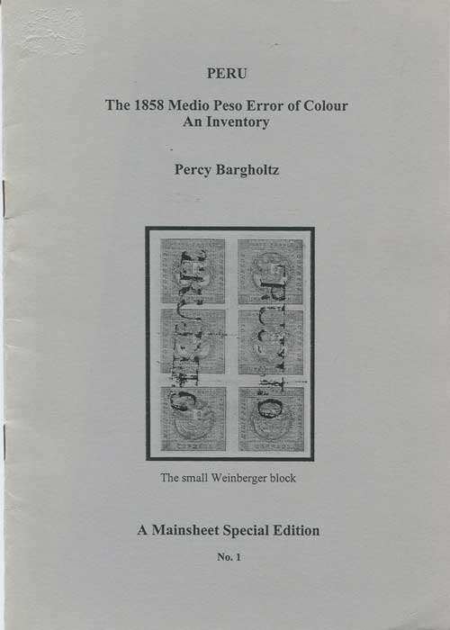 BARGHOLTZ Percy 1858 Medio Peso Error of Colour