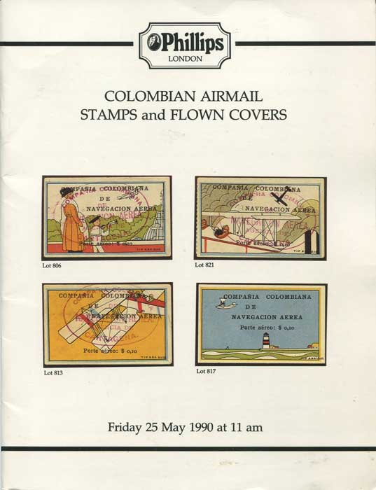 1990 (25 May) Colombian Airmail stamps and flown covers.