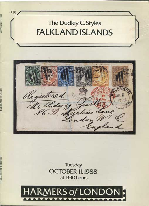 1988 Dudley C. Styles Falkland Islands.
