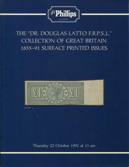 1992 (22 Oct) Dr Conrad Latto collection of Great Britain 1855-91 Surface Printed Issues.