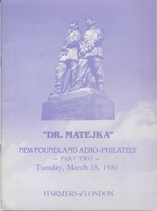 1980 (18 Mar) Dr Matejka Newfoundland Aero-Philately Part Two.