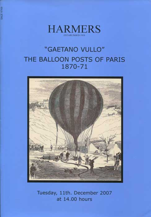 2007 (11 Dec) Gaetano Vullo The Balloon Posts of Paris 1870-71