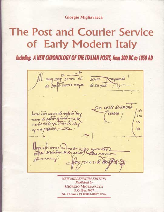 MIGLIAVACCA Giorgio The Post and Courier Service of Early Modern Italy