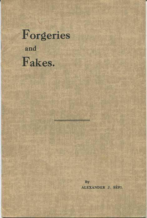 SEFI Alexander J. Forgeries and Fakes.