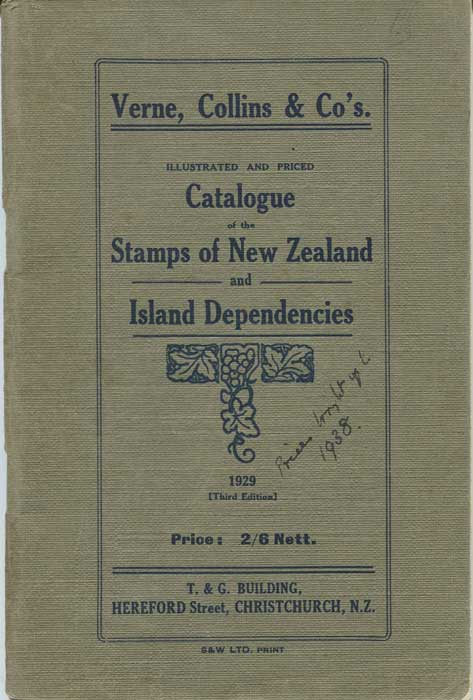 VERNE COLLINS & CO Catalogue of the stamps of New Zealand and Island Dependencies