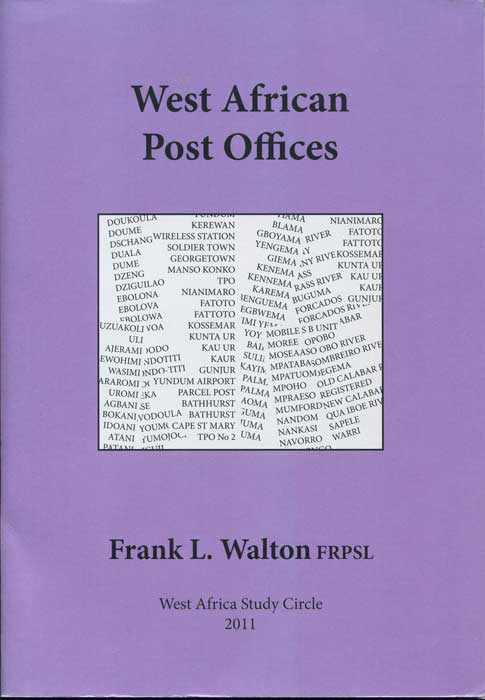WALTON Frank L. West Africa Post Offices.