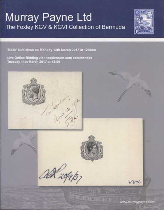 2017 (13 Mar) Foxley KGV & KGVI collection of Bermuda