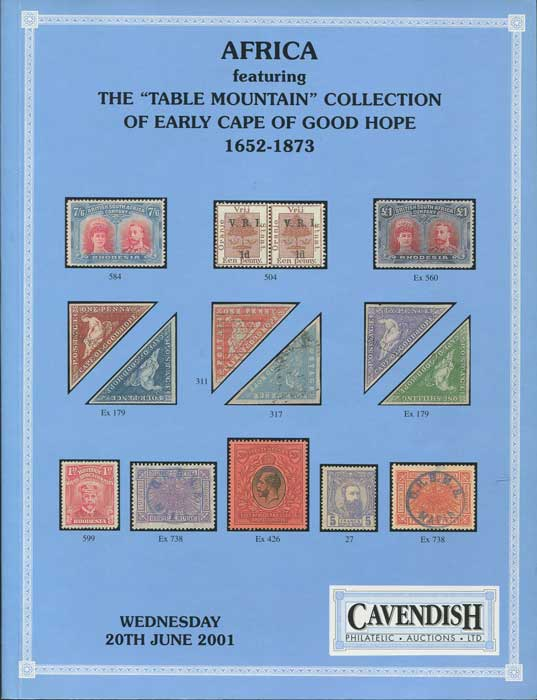 2001 (20 Jun) Table Mountain collection of early Cape of Good Hope 1652-1873