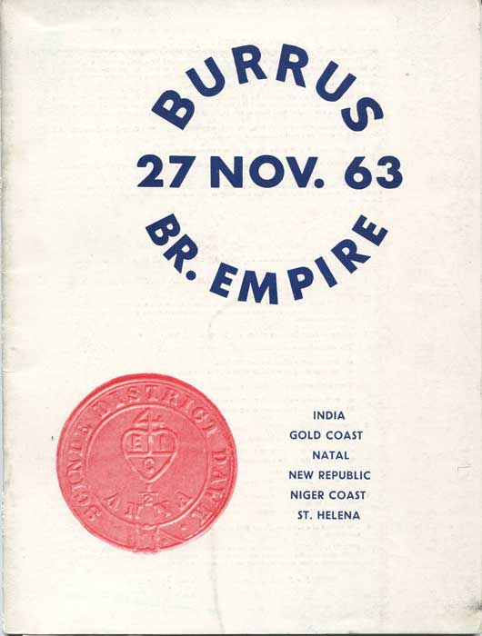 1963 (27 Nov) Burrus British Empire