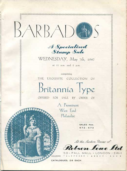1947 (7 May) Barbados, a specialised stamp sale