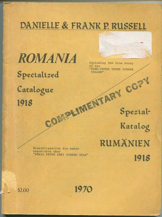 RUSSELL Danielle & Frank Romania Specialised Catalogue 1918