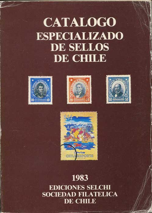 ANON Catalogo Especializado de Sellos de Chile.