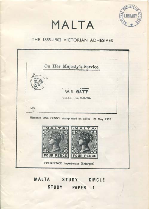 MALTA The 1885-1902 Victorian Adhesives