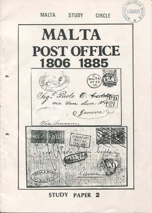 MALTA Post Office 1806 - 1885