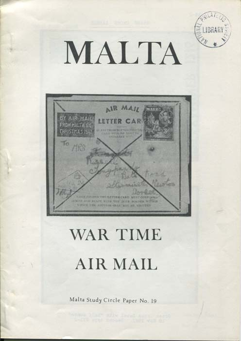 MALTA War Time Air Mail