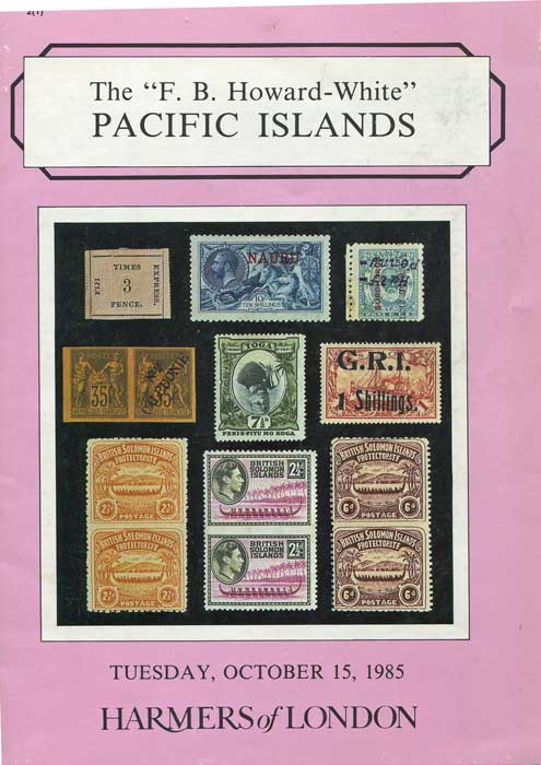 1985 (15 Oct) F.B. Howard-White Pacific Islands