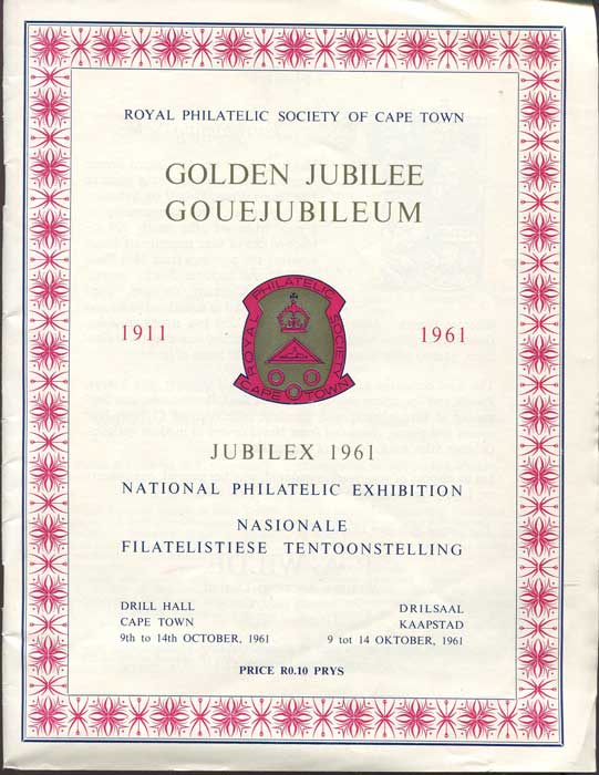 ROYAL PHILATELIC SOCIETY OF CAPE TOWN Jubilex 1961 National Stamp Exhibition